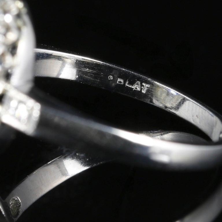 Antique Edwardian Natural Sapphire Diamond Ring Platinum Circa 1910 For Sale 1