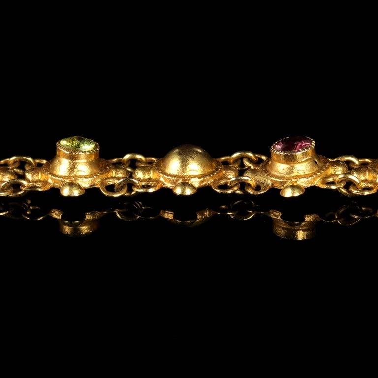 Women's Antique Victorian Suffragette 15 Carat Gold Bracelet, circa 1900 For Sale