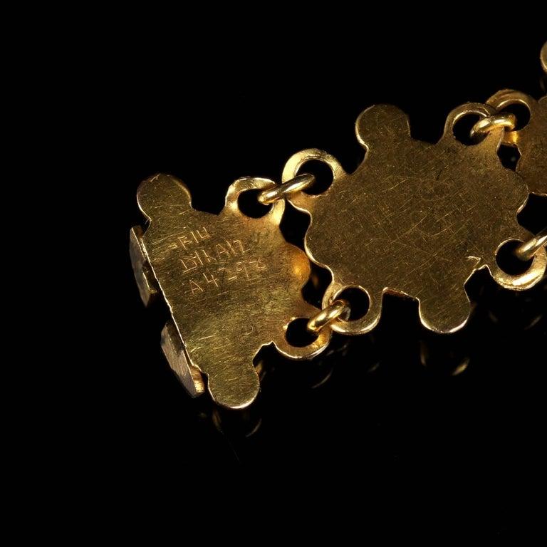 Antique Victorian Suffragette 15 Carat Gold Bracelet, circa 1900 For Sale 3