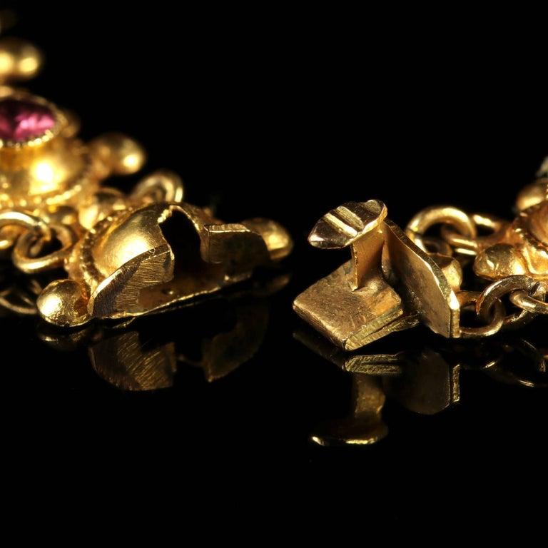 Antique Victorian Suffragette 15 Carat Gold Bracelet, circa 1900 For Sale 2