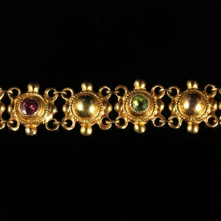 Antique Victorian Suffragette 15 Carat Gold Bracelet, circa 1900 In Excellent Condition For Sale In Lancaster, Lancashire