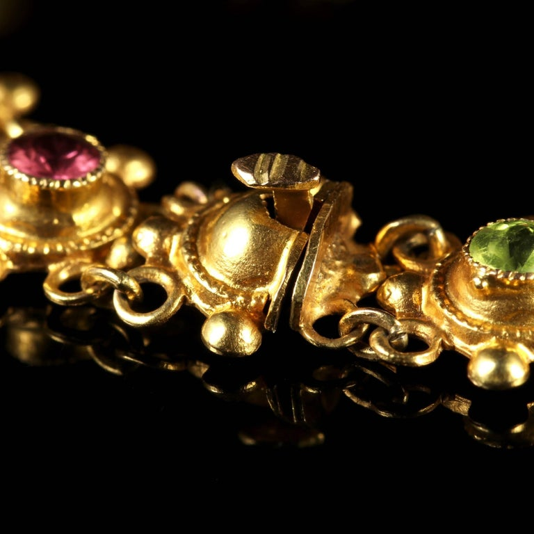 Antique Victorian Suffragette 15 Carat Gold Bracelet, circa 1900 For Sale 1