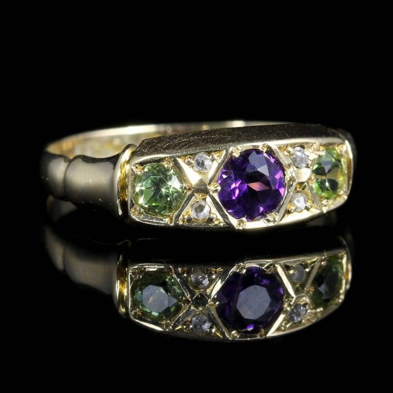 Antique Tourmaline And Diamond Rings