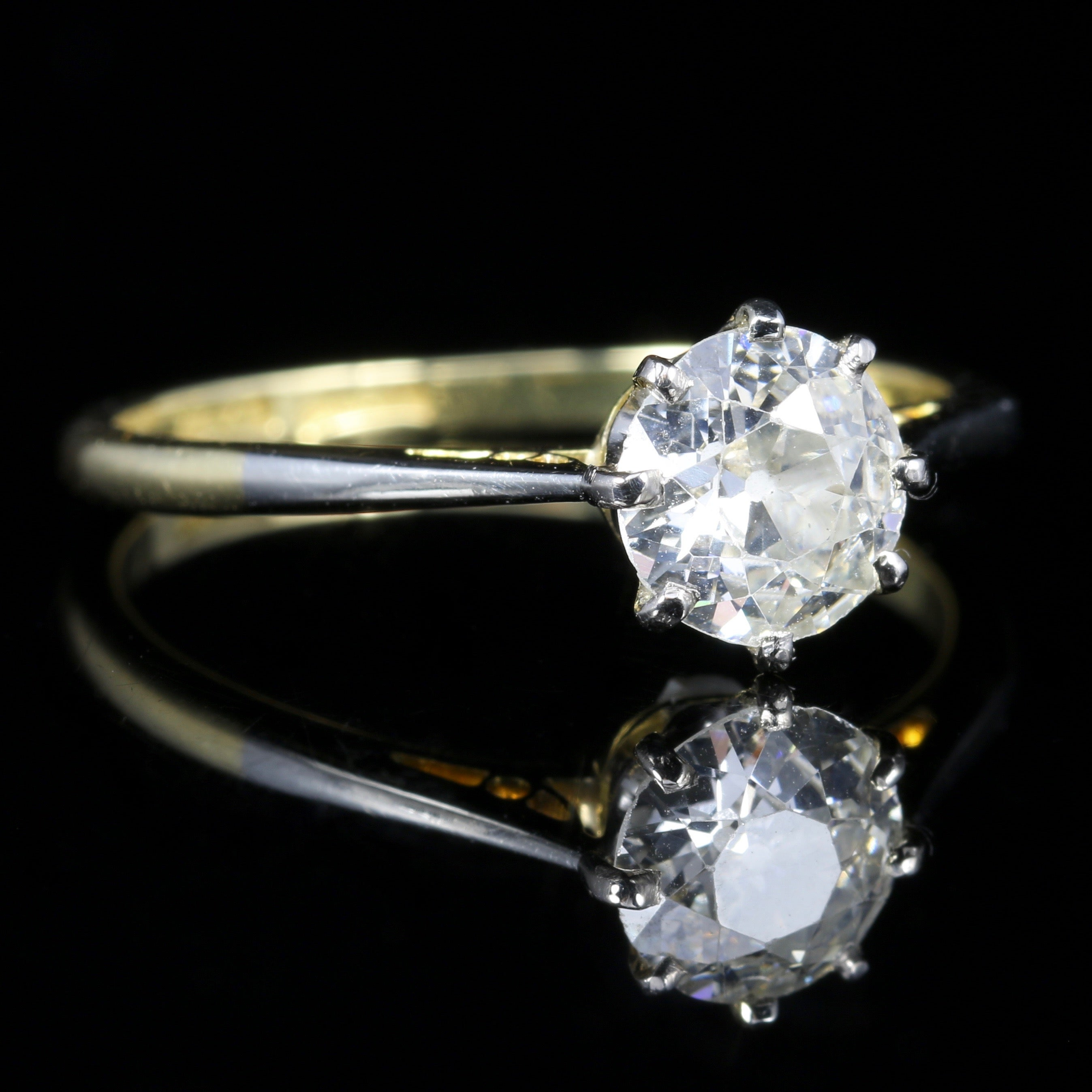 jewelry ring in diamond white rings mounted engagement diamondland gold