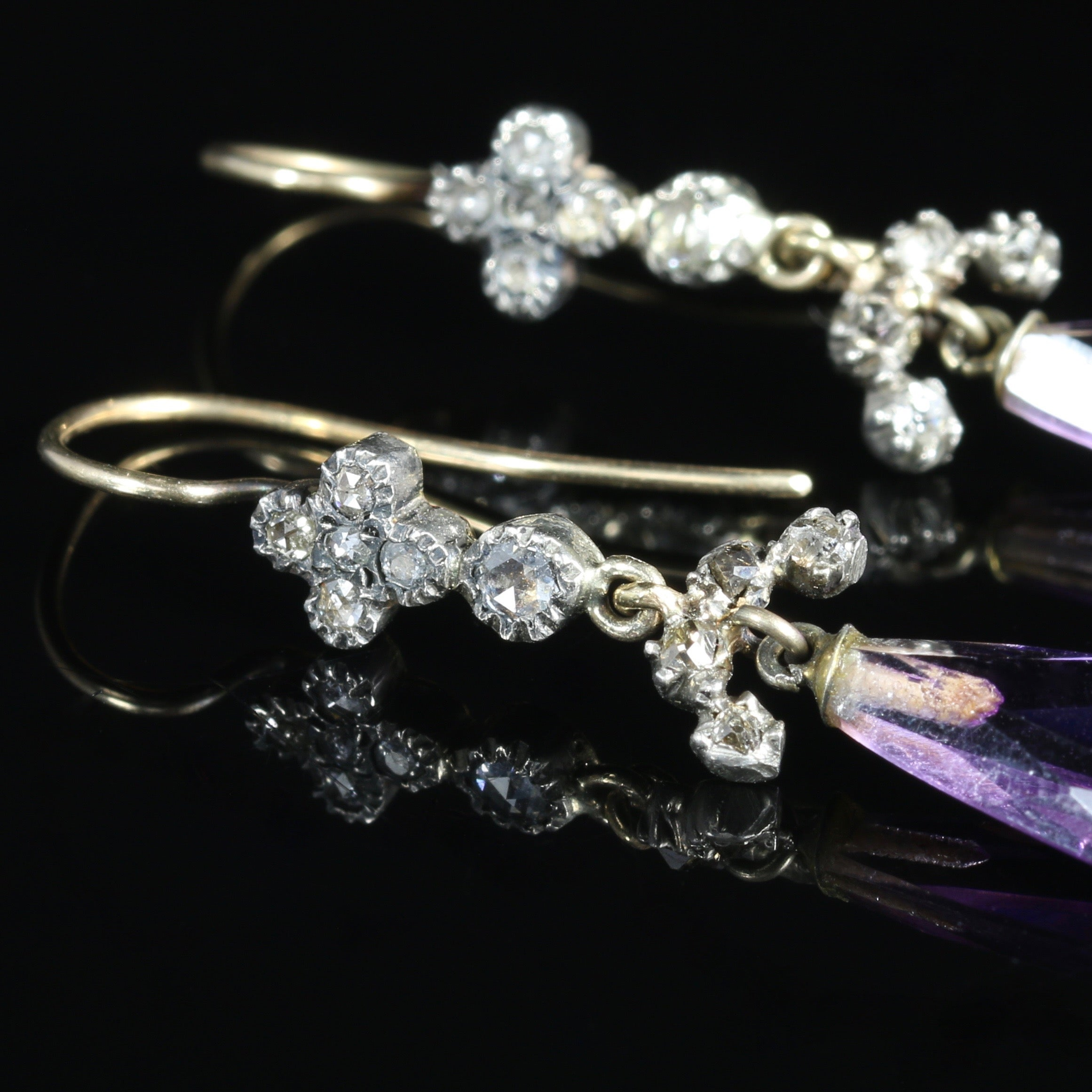 product victorian in deakin carat from karen late earrings antique antiques diamond about gold