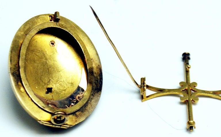 Antique Vienna Austria Gold Diamond Bracelet and Brooch 5