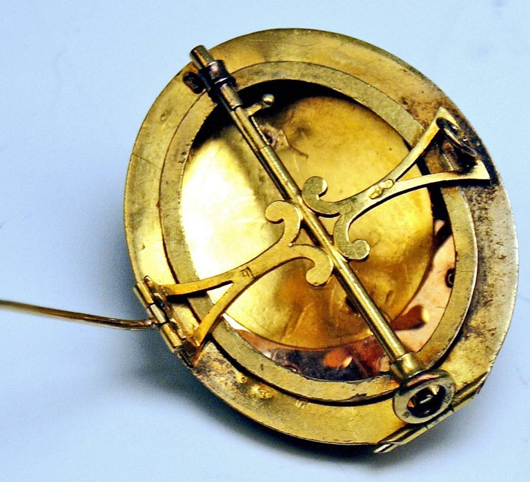 Antique Vienna Austria Gold Diamond Bracelet and Brooch 4