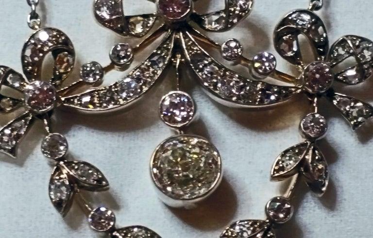 Art Nouveau Necklace Brooch Gold 585 Diamonds '3.0 Carat' by Halder Vienna In Excellent Condition For Sale In Vienna, AT