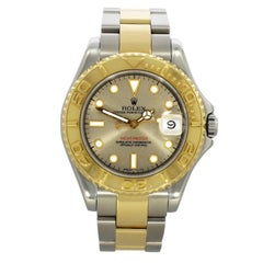 Rolex Yellow Gold Stainless Steel Yachtmaster Oyster Wristwatch, Ref 68623