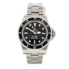Rolex Stainless Steel Submariner Original Dial Wristwatch Ref 5512