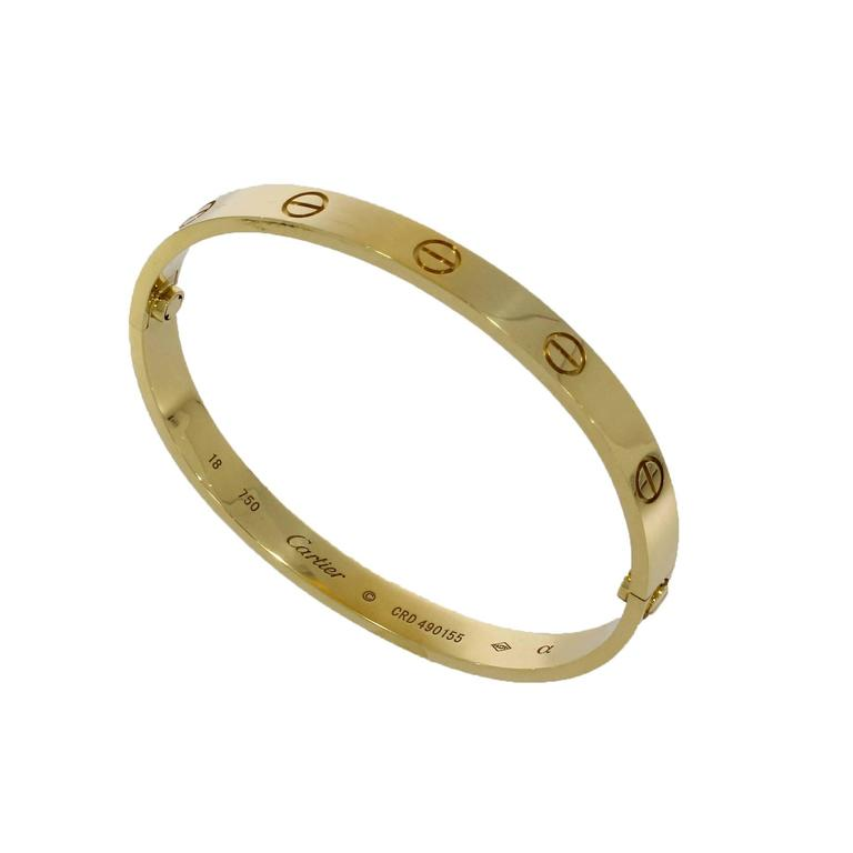 This Cartier Bangle has undergone a thorough inspection to ensure all aspects of the piece are as they should be to meet our high standards for sale. It has also been referenced against records and registers to help determine a clean history and its