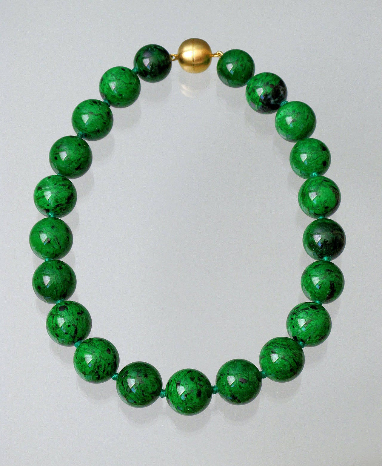 jade necklace bead green and clasp marles product jethro