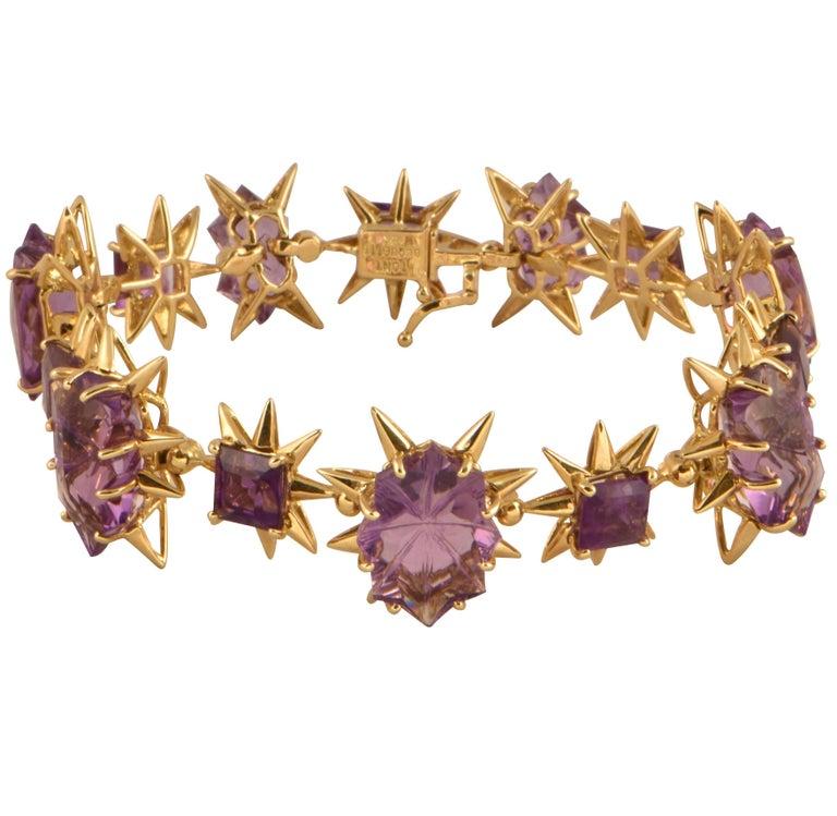 Tony Duquette 58 Carat Amethyst Gold Bracelet