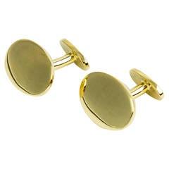 Tiffany & Co. Oval Gold Cufflinks