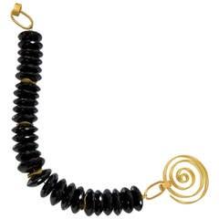 Black Spinel Faceted Bead Bracelet