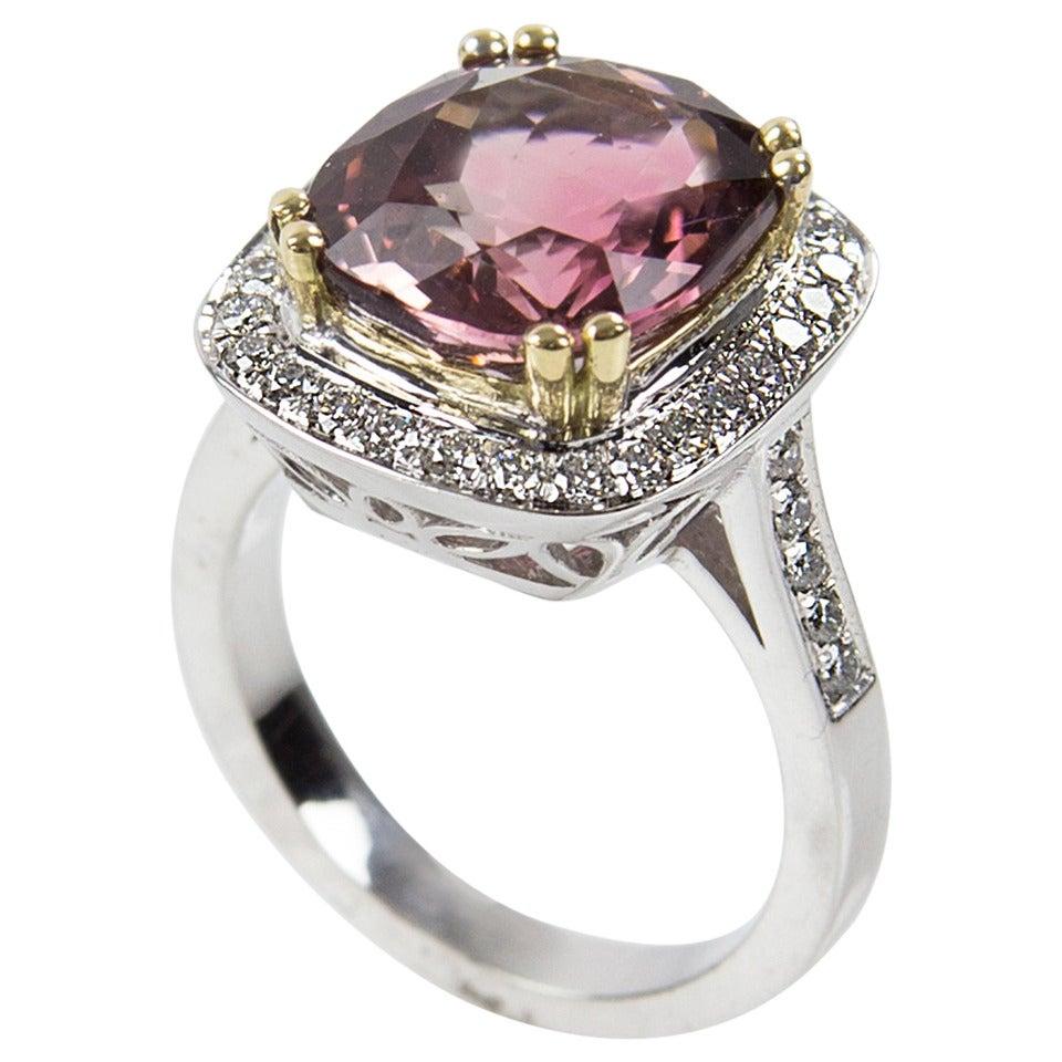 6 40 carat cushion cut madagascar tourmaline diamond gold