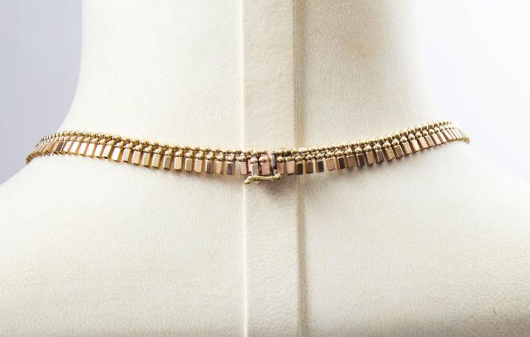 Modernist Cleopatra Yellow Gold Collar Statement Necklace For Sale