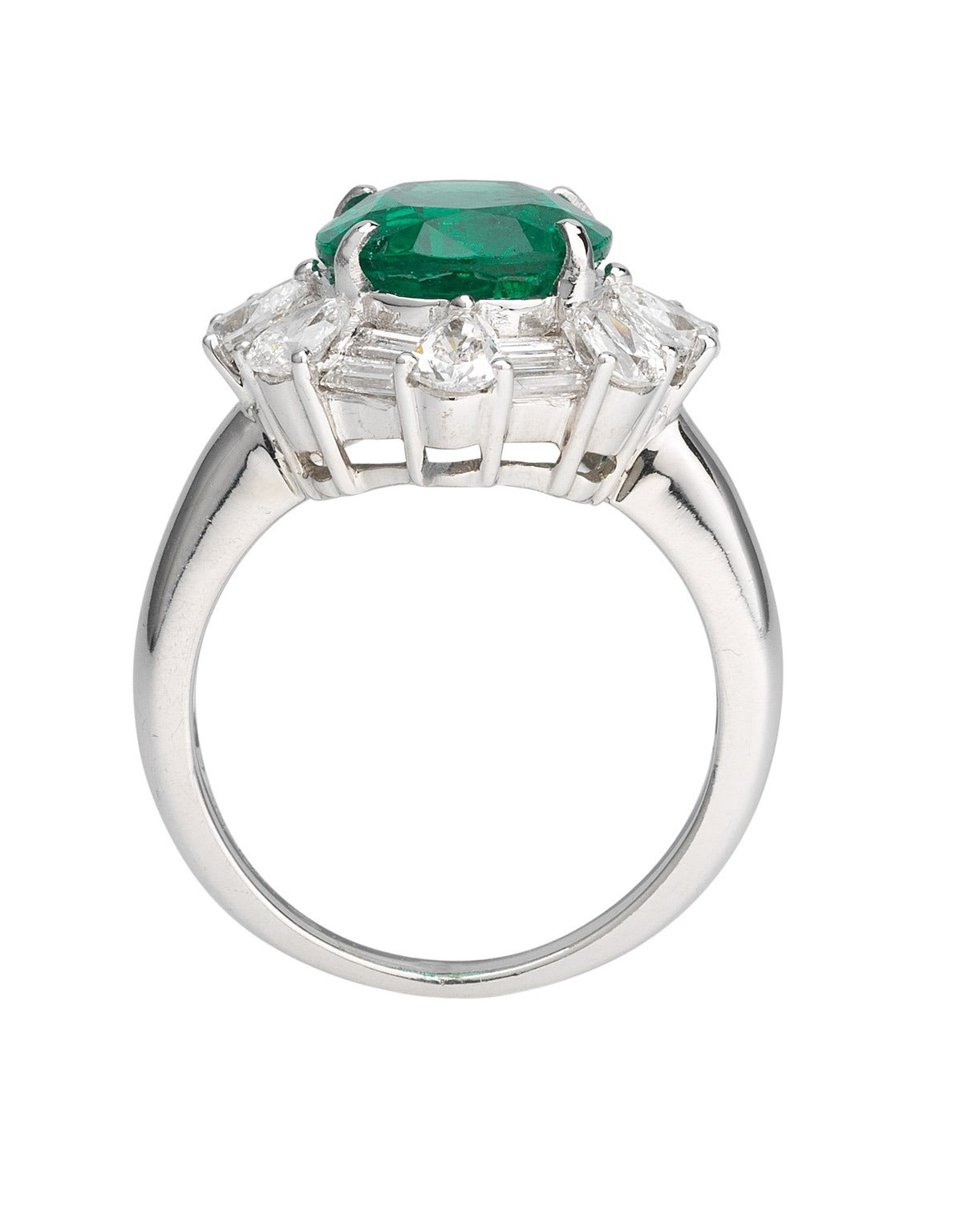 impressive contemporary emerald gold ring for sale