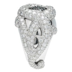 De Grisogono Diamond Gold Flower Ring