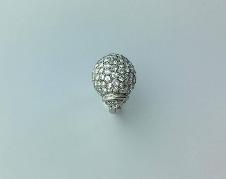 Retro 1940s Diamond Platinum Ring For Sale