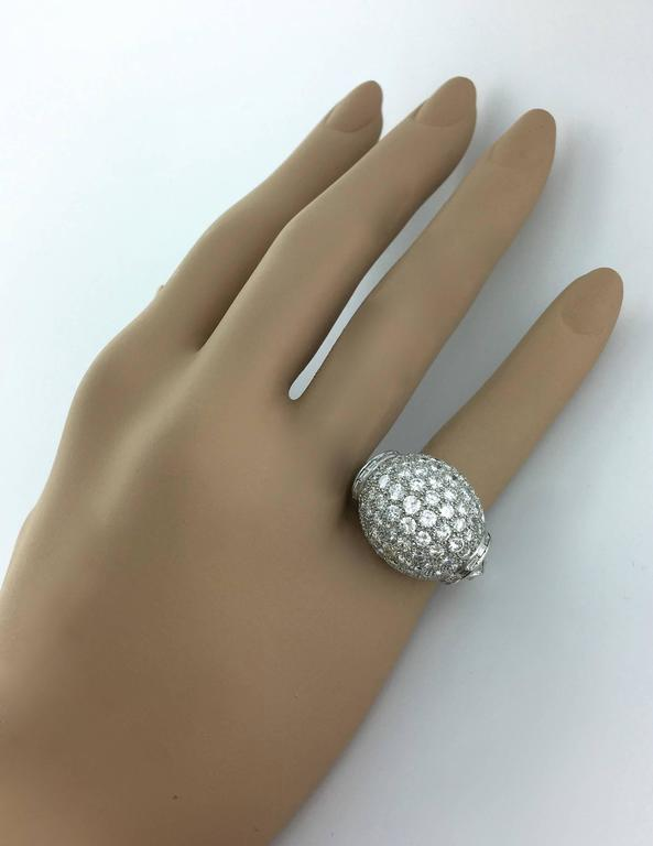 1940s Diamond Platinum Ring In Excellent Condition For Sale In Geneva, CH
