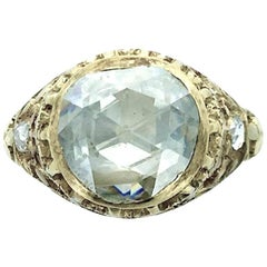Early 20th Century Rose Cut Diamond Yellow Gold Ring