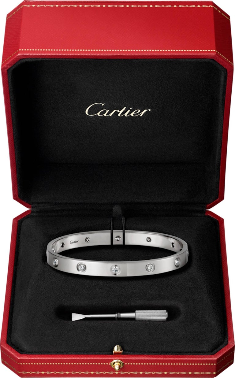 Cartier Love Three Bracelets Trinity Pink, White and Yellow Gold Bangles  7