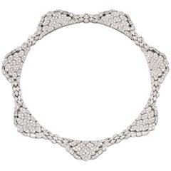 1980s Diamond Platinum Necklace