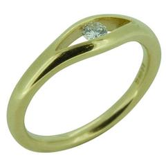 D Flawless Diamond Solitaire Ring Contemporary Design, UK Award Winning Designer