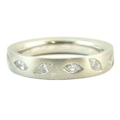 Marquise Diamond Wedding Eternity Ring, Platinum Band, UK Award Winning Designer