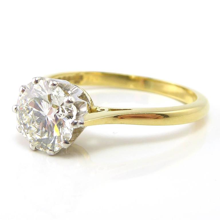 Diamond Engagement Ring 1 26 Carat Brilliant Cut Sheffield Hallmark 2000 Fo