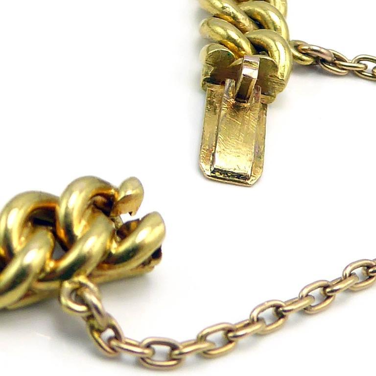 Art Deco Diamond, Sapphire & Natural Pearl Line Bracelet, 18Ct Gold & Platinum For Sale 3