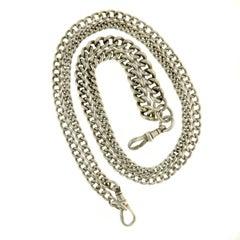 Victorian Silver Albert Curb Chain