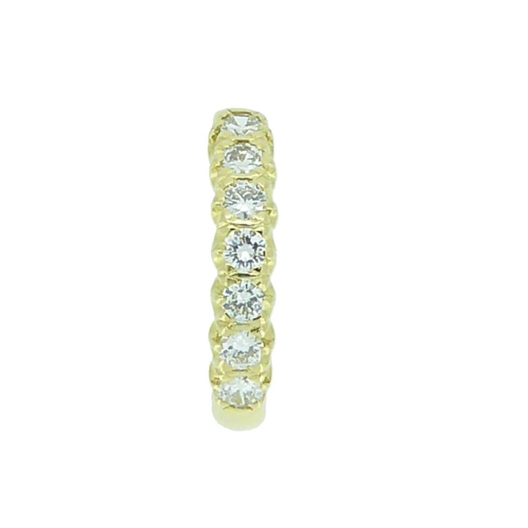 Modern Vintage 0.75 Carat Diamond Eternity Ring, 18 Carat Yellow Gold Band For Sale