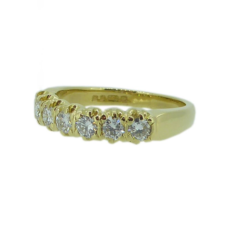 Vintage 0.75 Carat Diamond Eternity Ring, 18 Carat Yellow Gold Band In Excellent Condition For Sale In Yorkshire, West Yorkshire