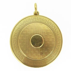 Antique Gold Picture Locket, Edwardian Era, circa 1910