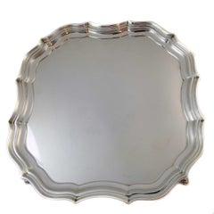 Art Deco Silver Salver, Barker Brothers, Hallmarked Chester 1923