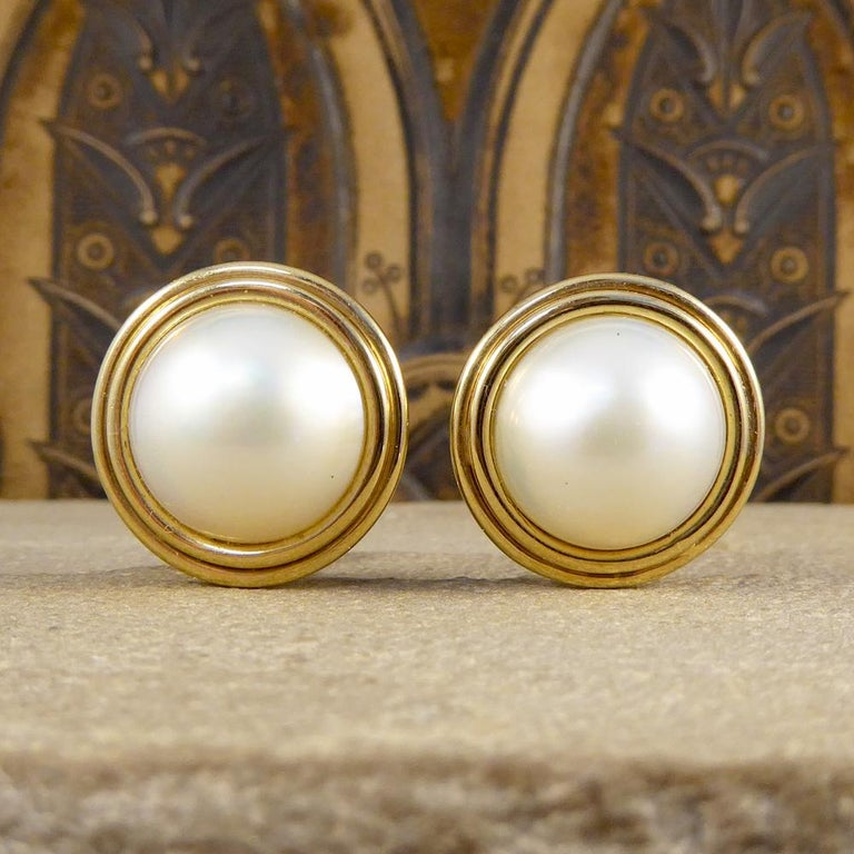 These Lovely Mabe Pearl Stud Earrings Are Rous Rich And Creamy Pearls That Shimmer With
