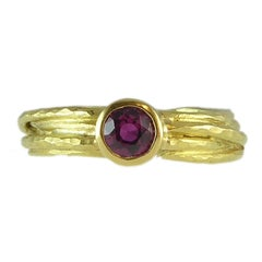 Pre-Owned Ruby, 18 Carat Gold Dress Ring by UK Jewelry Designer Malcolm Morris
