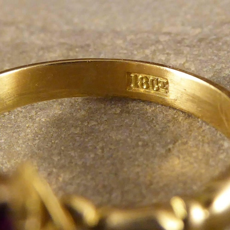 Antique Edwardian Ruby and Diamond Double Horseshoe Ring in 18 Carat Gold 2
