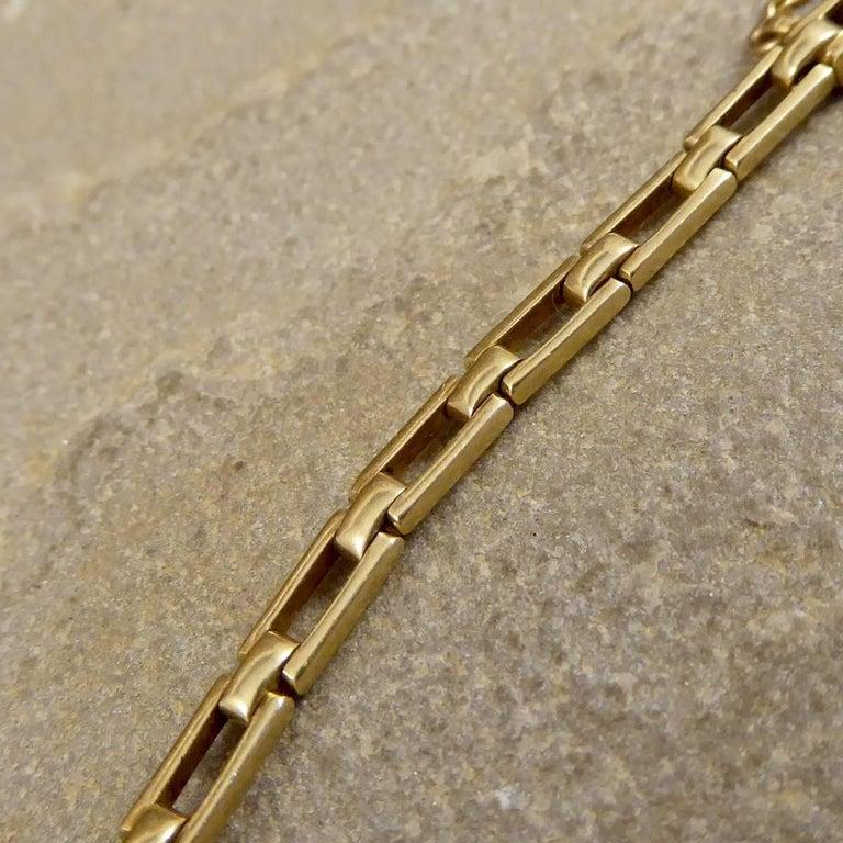 Antique Edwardian Tourmaline, Aquamarine, Garnet and Citrine 15ct Gold Bracelet  For Sale 5