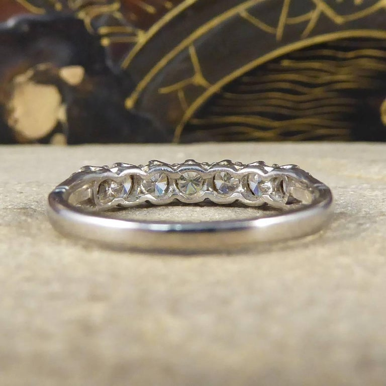 Vintage Multi Stone Diamond 18 Carat White Gold Ring In Good Condition For Sale In Yorkshire, West Yorkshire