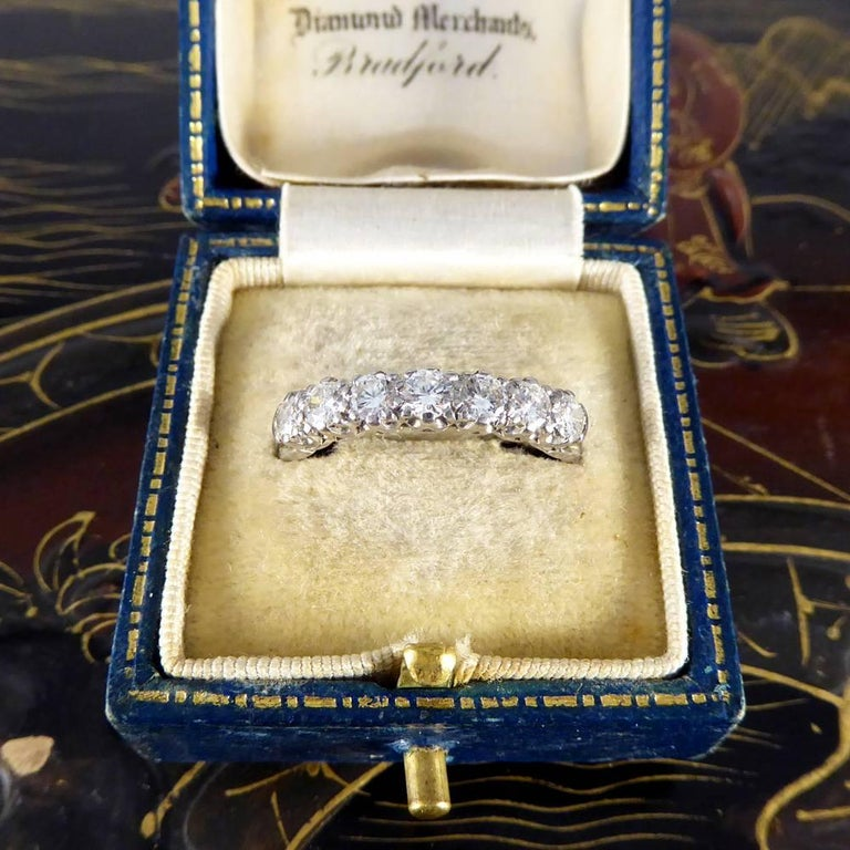 Vintage Multi Stone Diamond 18 Carat White Gold Ring For Sale 5