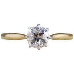Antique Edwardian 0.50 Carat Solitaire Diamond Engagement Ring in 18 Carat Gold