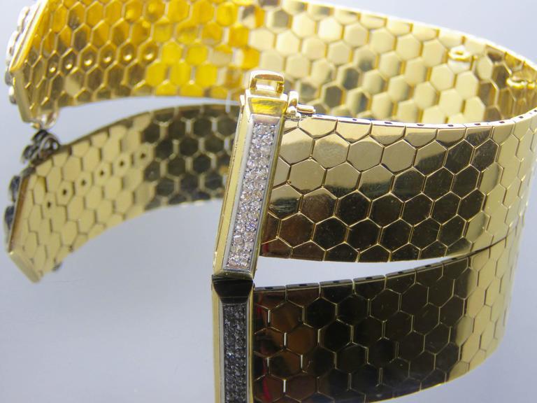 Retro Van Cleef & Arpels Diamond Gold  Buckle Bracelet 6