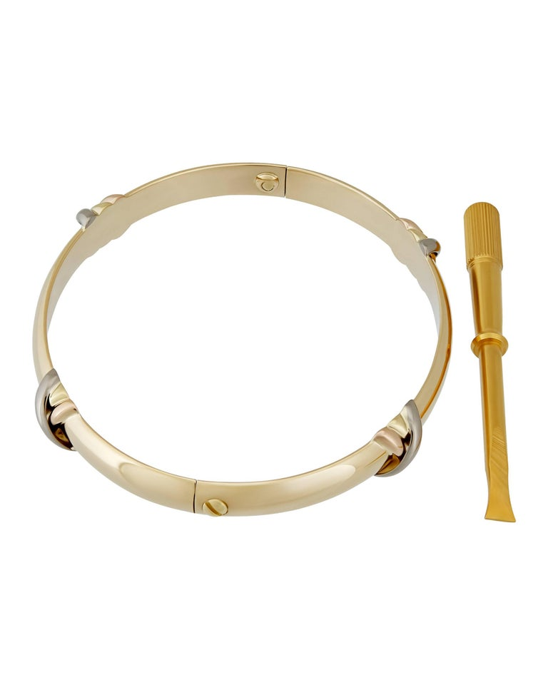 Cartier Tri-Color Gold Love Trinity Bangle 2