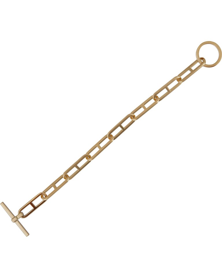 Hermes Gold Toggle Bracelet In New Condition For Sale In New York, NY