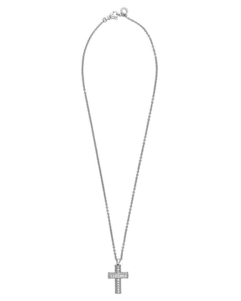 Bvlgari 18k white gold diamond cross necklace length 16 for sale bvlgari 18k white gold diamond cross necklace length 16 for sale like the shapes and colors of ancient rome that inspire all bvlgari pieces this white aloadofball Gallery