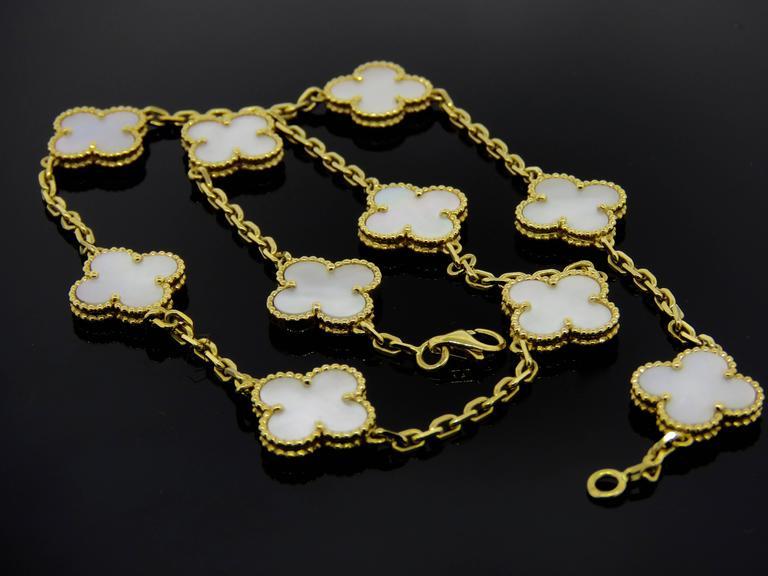 Van Cleef & Arpels Alhambra Mother-of-Pearl Necklace and Bracelet Set 2
