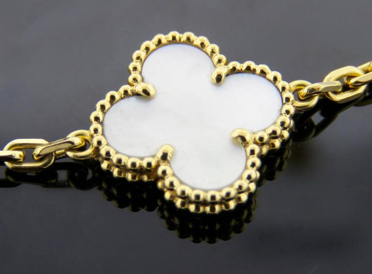 Van Cleef & Arpels Alhambra Mother-of-Pearl Necklace and Bracelet Set 6